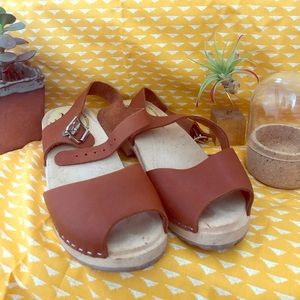 🌿Lotta from Stockholm Open Toe Clogs, like new!🌿